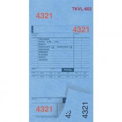 DRY CLEAN INVOICES/TAGS – BLUE – 3 PART – 1000/BOX (TKVL-602)