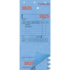 SHIRT INVOICES/TAGS – BLUE – 3 PART – 1000/BOX (Stry-Lenkoff - TVASL-02)