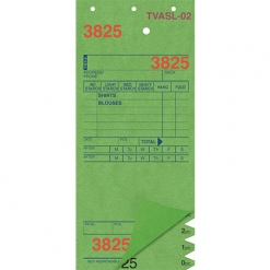 SHIRT INVOICES/TAGS – GREEN – 3 PART – 1000/BOX (Stry-Lenkoff - TVASL-02)
