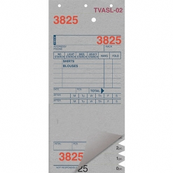 SHIRT INVOICES/TAGS – GREY – 3 PART – 1000/BOX (Stry-Lenkoff - TVASL-02)