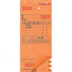 SHIRT INVOICES/TAGS – ORANGE – 3 PART – 1000/BOX (Stry-Lenkoff - TVASL-02)