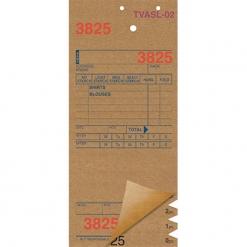 SHIRT INVOICES/TAGS – TAN – 3 PART – 1000/BOX (Stry-Lenkoff - TVASL-02)