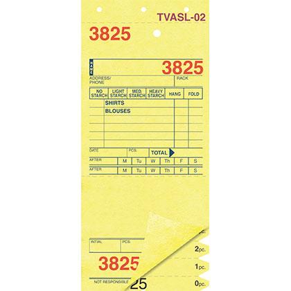 SHIRT INVOICES/TAGS – YELLOW – 3 PART – 1000/BOX (Stry-Lenkoff - TVASL-02)