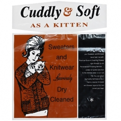"""SWEATER BAGS – SNAP – """"CUDDLY & SOFT"""" – 18X20 – 500CT (2125)"""